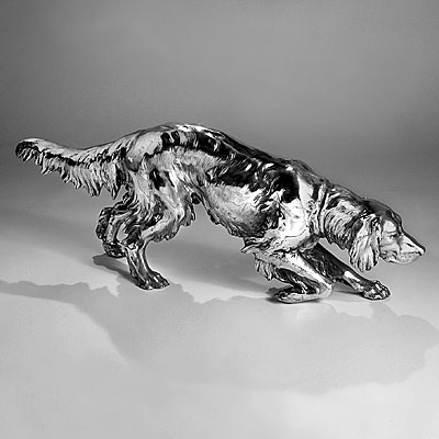 SILVERPLATE HUNTING DOG