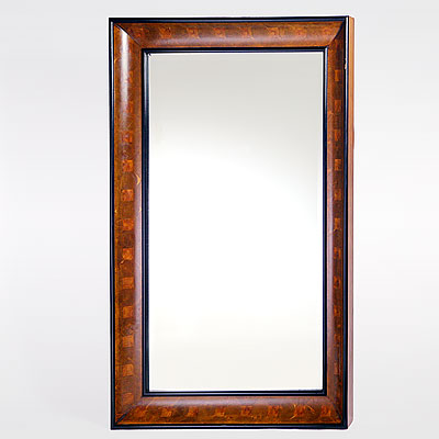 BURLED WOOD MIRROR