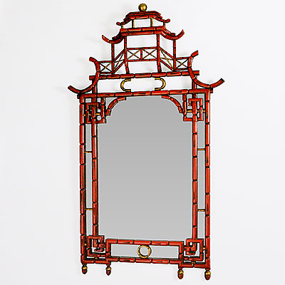 LACQUERED PAGODA MIRROR