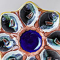 ENGLISH MAJOLICA OYSTER PLATES