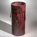 DARK BROWN LEATHER UMBRELLA STAND