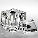 CUBE GLASS PERFUME BOTTLE