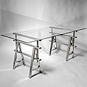 CHROME TABLE LEGS WIDE