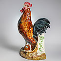 FRENCH ROOSTER VASE