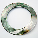 IRIDESCENT SHELL BANGLE BRACELET