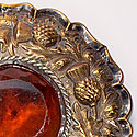 LARGE AMBER BROOCH
