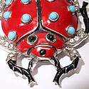 TRIFARI LADY BUG BROOCH