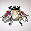 TRIFARI VINTAGE FLY BROOCH