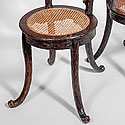 PAIR OF BLACK FOREST CHAIRS