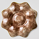 ENGLISH MAJOLICA OYSTER PLATE