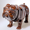 LIFE-SIZE WOOD BULLDOG