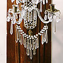 WOOD & CRYSTAL WALL SCONCES